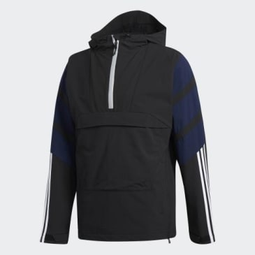 ADIDAS 3 STRIPE JACKET - BLACK NAVY WHITE