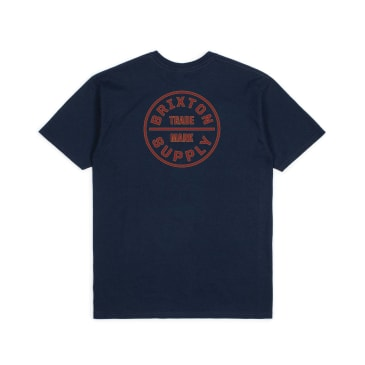 Brixton Oath T-Shirt - Navy / Red