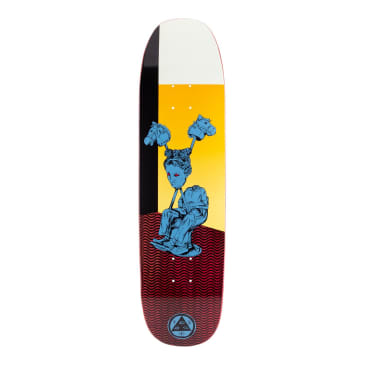 Welcome Skateboards Hedo Rick on Son of Moontrimmer Skateboard Deck Dark Red Stain - 8.25""
