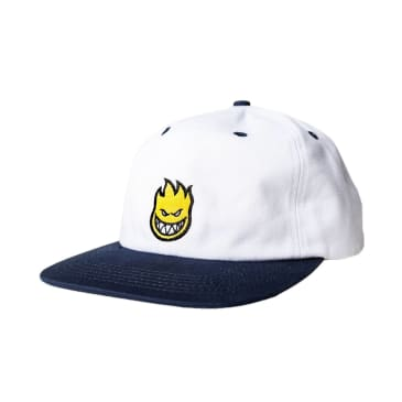 Spitfire Bighead Fill Snapback White / Navy / Yellow