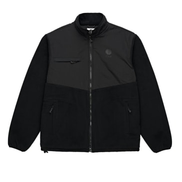 Polar Skate Co. Halberg Fleece Jacket - Black / Black