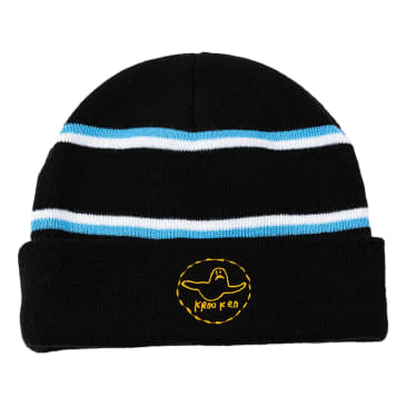 KROOKED Trinity Cuff Beanie Black/Blue/Yellow