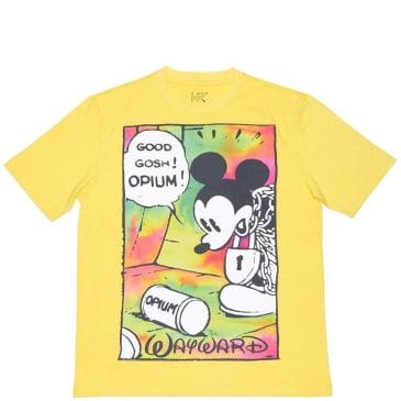 Wayward Skateboards Opium Flashback T-Shirt Yellow