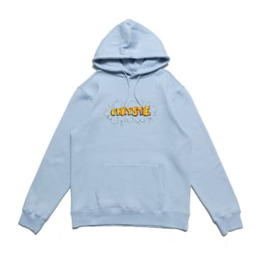 Chrystie NYC Ruscha Logo Pullover Hoodie - Light Blue