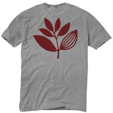 Magenta Skateboards Plant T-Shirt - Heather Grey / Red