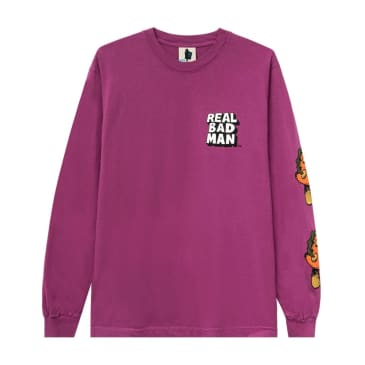 Real Bad Man So Far Out L/S Tee (Purple)
