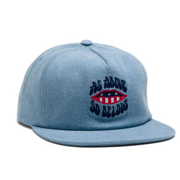 Above & Below Snapback Cap - Denim