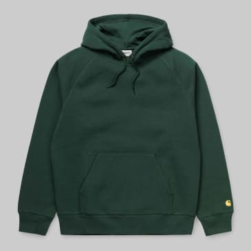 Carhartt WIP - Chase Pullover Hooded Sweatshirt - Treehouse / Gold