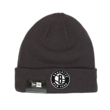 New Brooklyn Nets Colour Out Line Beanie - Charcoal