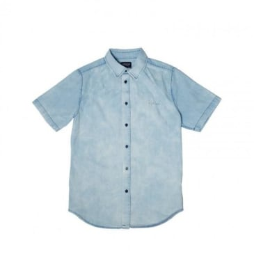 Rip n Dip Islander Button Up Shirt - Indigo Acid Wash
