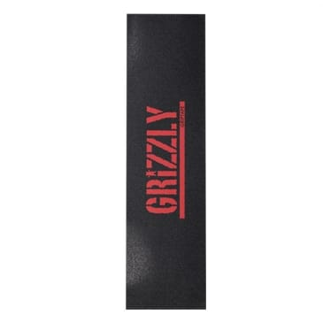 Grizzly Stamp RED/Black GripTape
