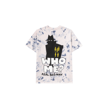 Real Bad Man Who Me? T-Shirt - Pink Tie Dye