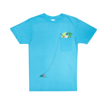 Rip N Dip Foreign Fish Pocket T-Shirt - Blue