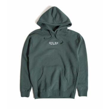 Hotel Blue Embroidered Logo Hoodie - Alpine Green