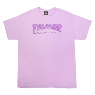 THRASHER OUTLINED TEE - ORCHID