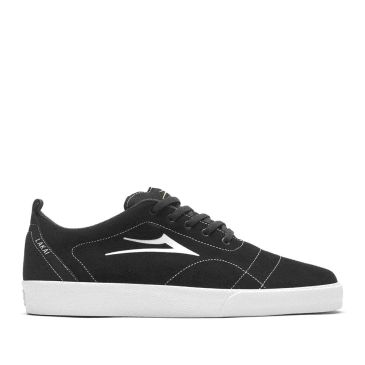 Lakai Bristol Suede Skate Shoes - Black White