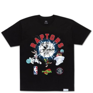 Diamond Supply Co. X Nba Space Jam Raptors T-Shirt - Black