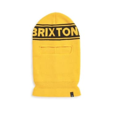 Brixton Sprocket Face Mask - Yellow-Black