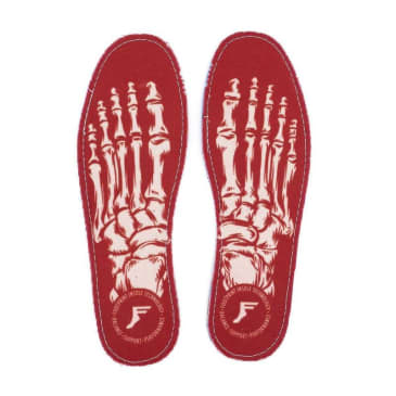 Footprint - Footprint Kingfoam 5mm Flat Skeleton Insoles UK8 | Red