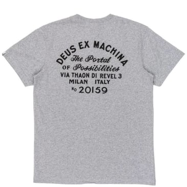 Deus Ex Machina Milan Address Pocket T-Shirt - Grey Marle