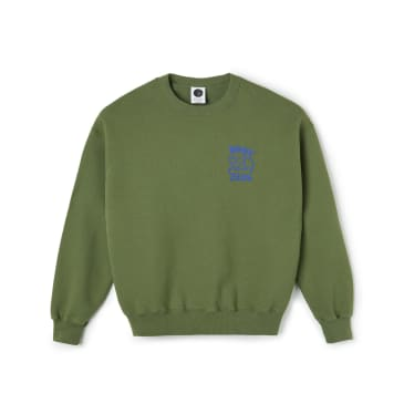 Polar Skate Co Big Boy Club Crewneck - Army Green