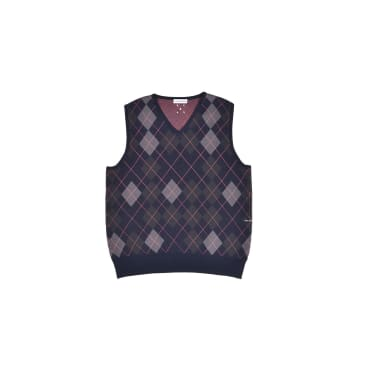 Burlington Knitted Spencer Vest Navy