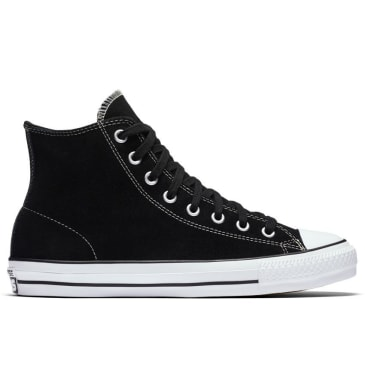 Converse Chuck Taylor All Star Pro High Top Shoes - Black/Black/White - Suede