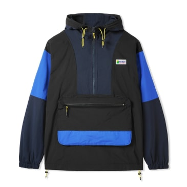 Butter Goods Equipment Pullover Jacket - Black / Navy / Royal