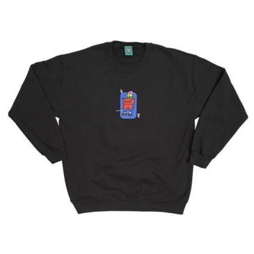 "Frog ""Napkin Friend"" Crewneck (black)"