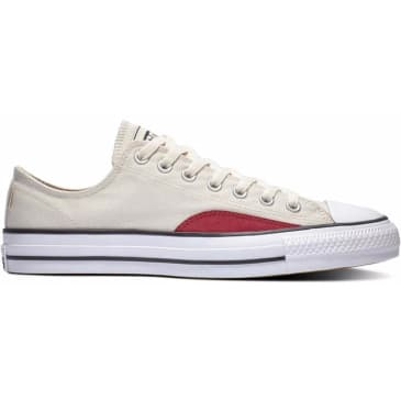 Converse Chuck Taylor All Star Pro Ollie Patch Low Top Shoes - Natural Ivory/Black/White