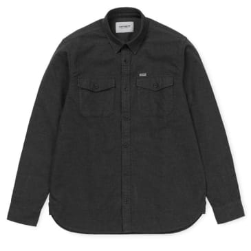 Carhartt WIP L/S Vendor Shirt - Black Heather