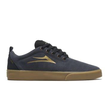 Lakai Bristol Suede Skate Shoes - Charcoal / Gold