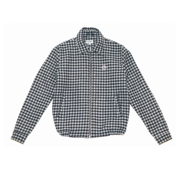 The National Skateboard Co. Harrington Jacket - Checked Black/Light Grey