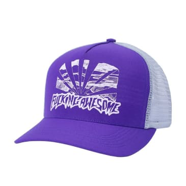 Fucking Awesome Sunset Pre-Curved Snapback - Purple / Grey
