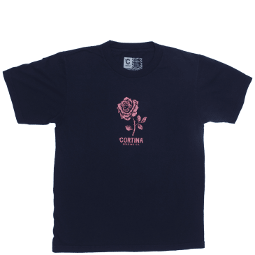Cortina Bearing Co Rose T-Shirt - Navy