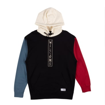 Welcome Skateboards Quadrant Pullover Hoodie - Black / Blue / Red
