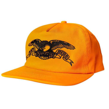 Anti Hero Basic Eagle Embroidered Orange/Black Snapback Cap