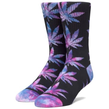 Huf Plantlife Tie-Dye Plantlife Socks (Black)