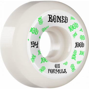 Bones Wheels - 54mm 100's V5 Sidecut Skateboard Wheels