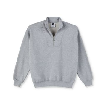 Polar Skate Co Zipneck Sweatshirt - Sport Grey