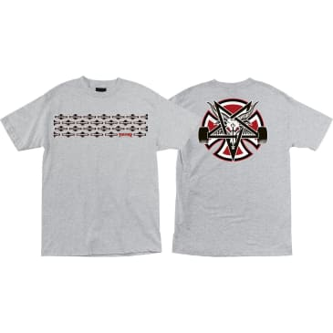 Independent - Thrasher Pentagram Cross SS Heather Grey Large