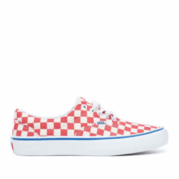 Vans Checkerboard Era Pro Skate Shoes - Rococco Red / Classic White