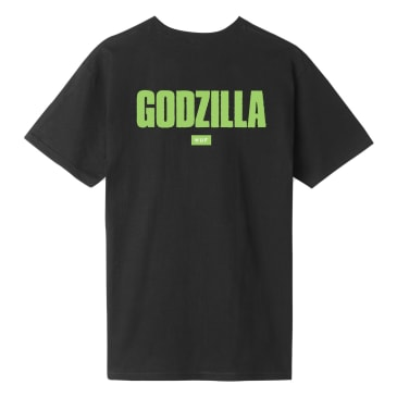 HUF vs Godzilla Bar Logo T-Shirt - Black