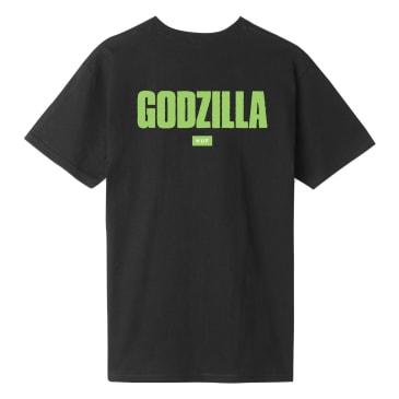 HUF vs Godzilla Bar Logo T-Shirt - Black