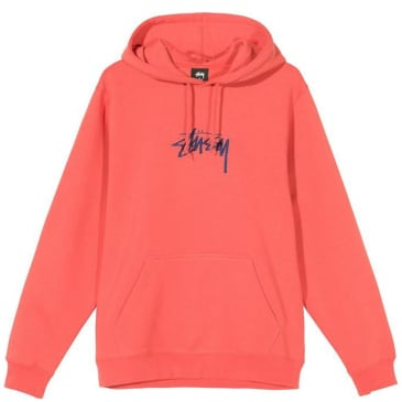 Stüssy Stock Logo Hoodie - Pale Red