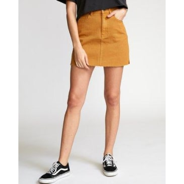 RVCA Women's Rowdy Denim Mini Skirt