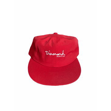 Diamond Supply Co. Mini OG Script Unstructured 6-Panel red
