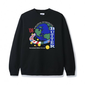Butter Goods Athletic Network Crewneck - Black