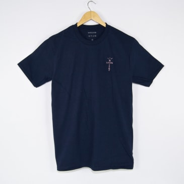 Welcome Skate Store - Cross T-Shirt - Navy / Pink