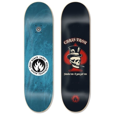 Black Label Skateboards- Chris Troy Smoke' Em Deck 8.5""